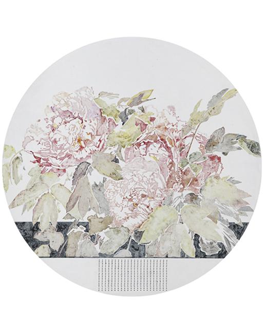 压缩原图-《花期时时No.130318》直径80cm布面油画2013